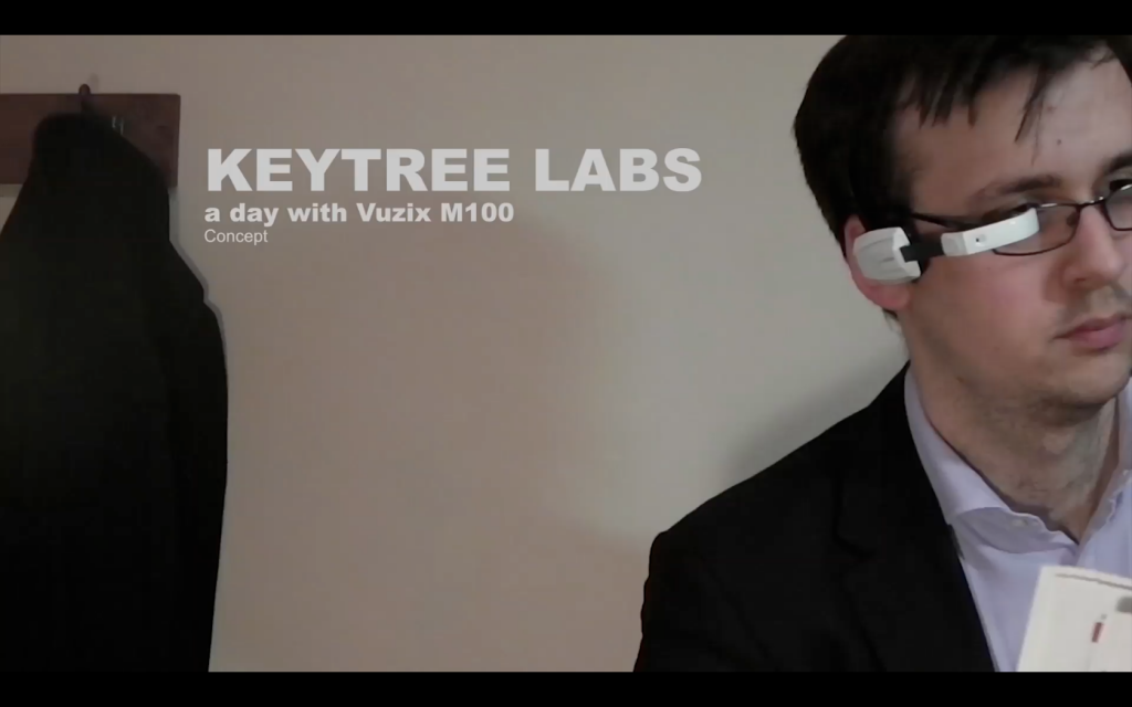 Will Powell keytree labs_a_day_with vuzix m100 smart glasses