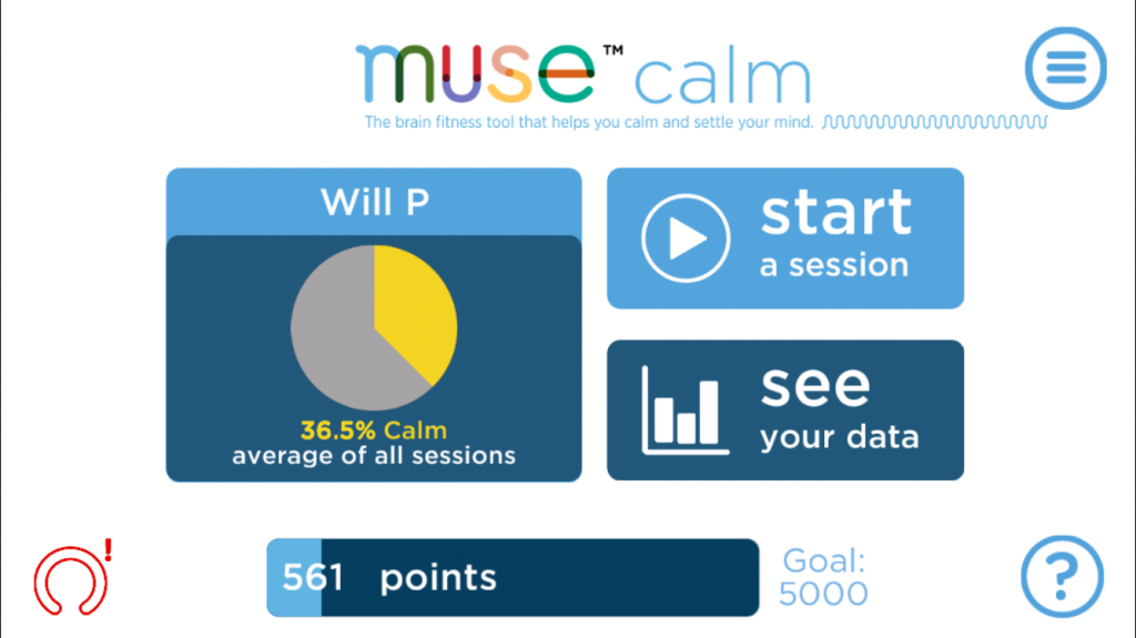 Muse Calm headset app
